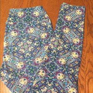 💚 SPRING LuLaRoe Hedgehog Floral Leggings, OS